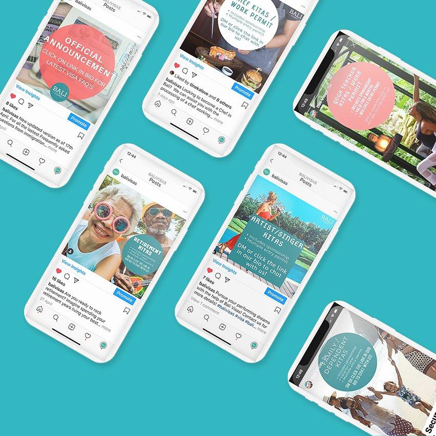 Digital Also - Bali Visas - Social Content
